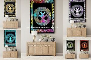 Celtic Tree of Life Infinity Knot Druid Pagan Tapestry Wall Hanging Indian Throw