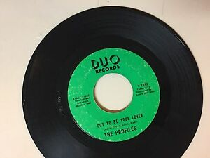 NORTHERN SOUL 45 RPM RECORD - THE PROFILES - DUO RECORDS 7449