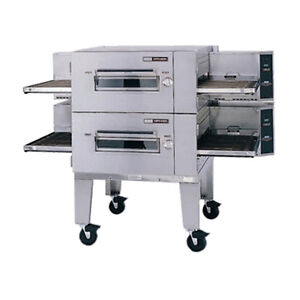 Lincoln 1600-2E Electric Low Profile double Stack Conveyor Pizza Oven