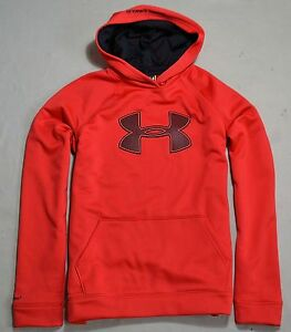 NWT BOYS YOUTH UNDER ARMOUR RED BLACK PULLOVER HOODIE JACKET COAT XL