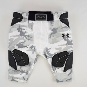 Under Armour 1218 Athletic Youth Gameday Armour Camo Girdle Sports Grey White