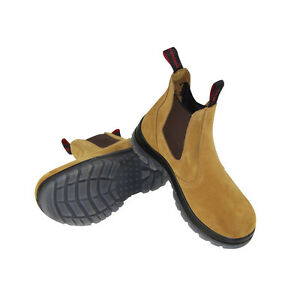 Mens boots Safety Work Boots Steel Toe Elastic Footwear Men Shoes Size9