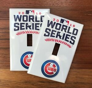 Chicago Cubs 2016 world series baseball light switch plate man cave cub fan FAST