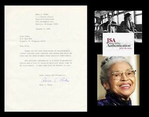 ROSA PARKS Autographed Inscribed Signed Letter Civil Rights NAACP
