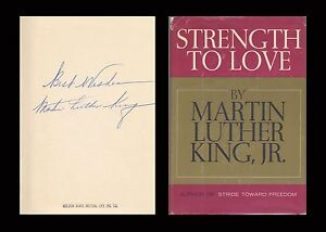 MARTIN LUTHER KING JR Autographed Signed Book Strength To Love Civil Rights