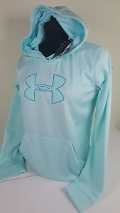 NWT UNDER ARMOUR YOUTH KIDS GIRL BLUE STORM FLEECE SWEATSHIRT HOODIE SZ YXL
