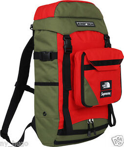 100% Authentic Supreme x The North Face SS16 Steep Tech Backpack Olive  Box Logo