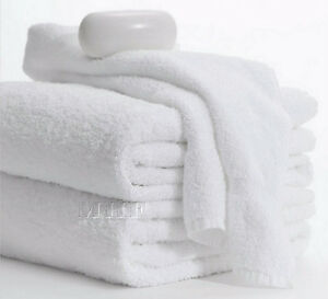 Bath Towels 6 Pack 22x44 inches White 6.0 Lbs 100% Cotton