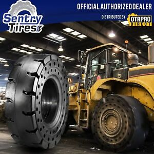29.5x25 Sentry Tire Solid Loader Tires (4 Tires) NO FLATS NO DOWNTIME 29.5-25