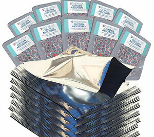 UNAVAILABLE- DO NOT BUY (100) Quart GENUINE Mylar Bags + (100) 300cc Absorbers