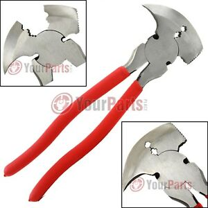 Fence Pliers 10quot; Inch Multi Purpose Wire Cutter Fencing Hammer Tool MIT 93566