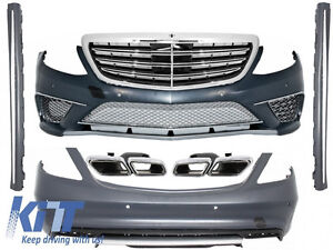 Complet Body Kit For Mercedes  W222 S-Class 13+ S65 S63 A-Design+Exhaust Tips