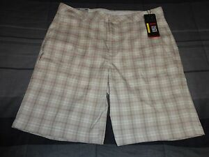 NWT Men's UNDER ARMOUR Golf Shorts Blue Beige Patterned W36 $64.99