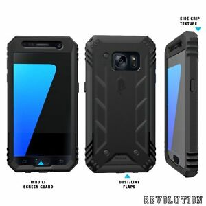 Case For Samsung Galaxy S7 POETIC【Revolution】Built-In Screen Protector Black