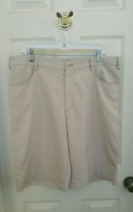 NIKE GOLF Fit Dry Tan  Shorts Size 36 Flat Front