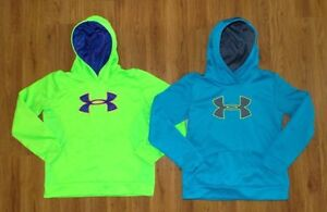 Girl's UNDER ARMOUR (lot of 2) Coldgear Pullover Fleece Hoodie YXL Extra Large