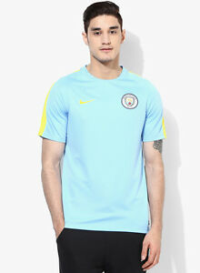 Nike Mcfc Dry Ss Sqd Blue Round Neck T-Shirt- Nike sport jersey