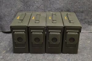 ( 4 PACK)NEW MILITARY 7.62  30 Cal M19A1 AMMO CAN ** FREE SHIPPING**