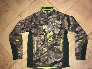 NWT $220 UNDER ARMOUR Coldgear Mossy Oak Treestand Camo Zippered Jacket  - Small