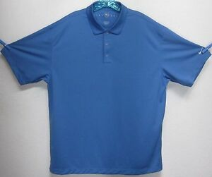NIKE GOLF FIT DRY MENS (XL) SKY BLUE POLYESTER SHORT SLEEVE POLORUGBY SHIRT EUC