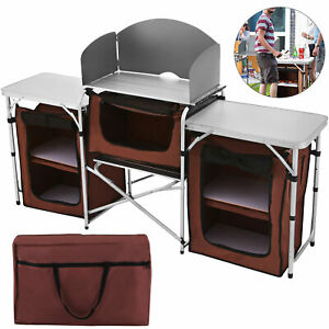 Camping Kitchen Table Collect Portable Table Food Storage Desk Cabinet Sale $119.98