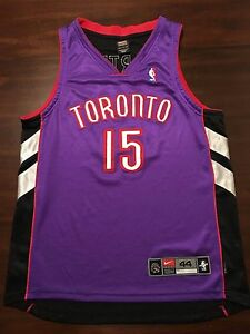 Vince Carter Nike Authentic Toronto Raptors Dri Fit Jersey Purple Away - 44 L
