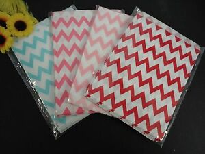100PC Food Safe Candy Snack Chevron print Treat Paper Bags Party Favor 7