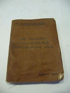 Antique: 1800's Military IssueTHE SOLDIERS' ENGLISH - FRENCH CONVERSATION BOOK.