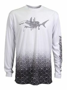 Guy Harvey Hammerhead Pro LS Performance Shirt. Sizes S - 2X. Fast Free Ship.