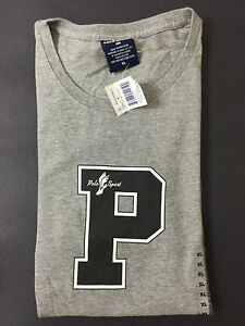 NEW OLD STOCK VINTAGE RALPH LAUREN POLO SPORT P WING TSHIRT GREY XL INDIAN L XXL