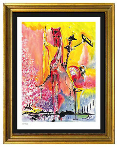 Salvador Dali Signed Hand Number Ltd Ed quot;Knight of Middle Ages quot;Print unframed $99.99