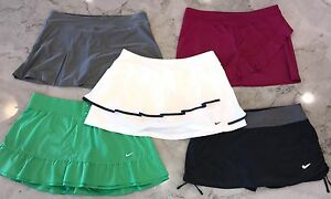 Nike Dri Fit Victory Lija Tennis Skirts Lot Of 5 White Black Gray Green Shorts L