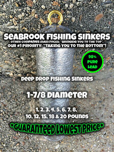 Deep Drop Sinkers  Deep Drop Weights  Deep Drop Lead Sticks