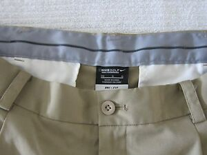 MENS NIKE GOLF TOUR PERFORMANCE DRI-FIT PLEATED SHORTS KHAKI  33