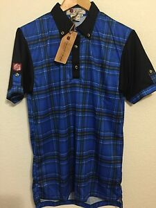 ILIAC GOLF Tour Issue The National Blue DRY FIT POLO SHIRT MENS SIZE SMALL NEW