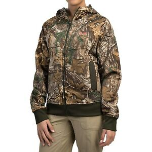 $85 NEW Womens 2XL Under Armour Camo Full Zip Hoodie Realtree Ap-Xtra 946