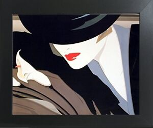 Mystique Nick Georgiou Vogue Exotic Lady Wall Contemporary Black Framed Picture $54.98