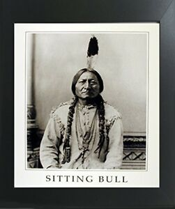 Sitting Bull Native American Indian Chief Wall Contemporary Black Framed Picture $54.98