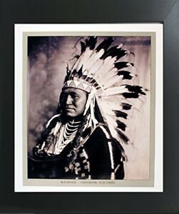 Washakie Shoshone Chief Native American Wall Contemporary Black Framed Picture $54.98