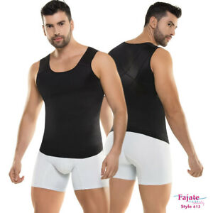 Mens Shaper Vest Shirt Camiseta Control Compression Faja Para Hombre Slimming
