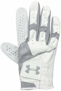 Under Armour Mens CoolSwitch Golf Glove WhiteSteel Right MediumLarge