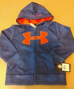 NWT Under Armour Boys Zip Up Hoodie 4T