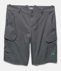 Men's Under Armour UA Fish Hunter Cargo Shorts Granite sz 34