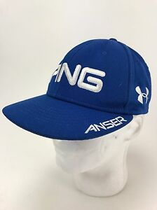 Under Armour Hunter Mahan Ping Anser HeatGeat Hat Size MDLG Purple UA PGA Tour