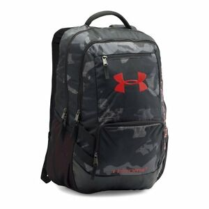 Under Armour Storm Hustle II Backpack Water Resistant BlackRed Free Shipping US