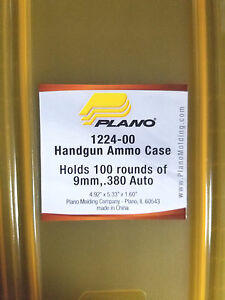 Plano 100 Count Handgun Ammo Case 1224-00 for 9mm and .380ACP Ammo *Cracked Tab