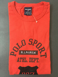 NEW OLD STOCK VINTAGE RALPH LAUREN POLO SPORT BADGE TSHIRT RED XL NAVAJO M L XXL
