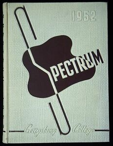 1952 Yearbook Spectrum Gettysburg College Pennsylvania $19.99