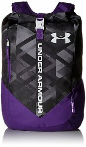 Under Armour Storm Roll Trance Sackpack BlackPurple Zest One Size