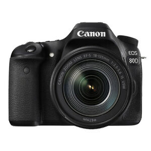 Canon EOS 80D Digital SLR Camera with 18-135mm EF-S f3.5-5.6 IS USM Lens